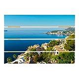 Bilderwelten Cuadro de Madera - Cala Fornells In Mallorca 48x70cm
