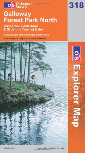 OS Explorer map 318 : Galloway Forest Park North