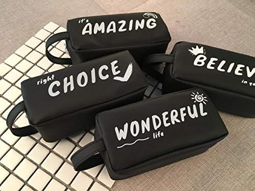 Estuches Gran Caja de Lápices Negro Papelería Escolar Suministros Creativo de Silicona Big Pen Box kits escuelas oficinas Alta calidad Simple Cool