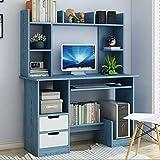 DULPLAY 39zoll Modernen Computertisch,Mit Storage Bookshelf Tastaturhalterung...