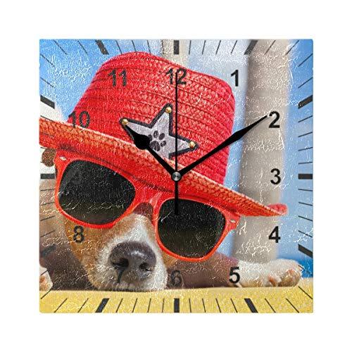 ISAOA tickt nicht lautlos Wanduhr, Hund Siesta ¨C Stockbild _ 75264883 _ Originelle Wanduhr Art Decor für Esszimmer, Wohnzimmer, Schlafzimmer, Büro, Schule