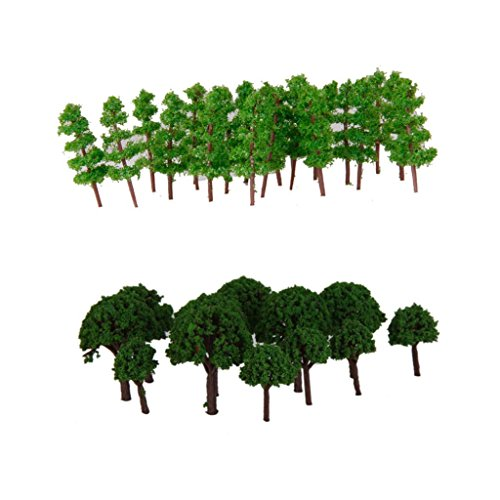 150pcs Green Tree Models 1: 400-500 Árbol Modelos Para Railroad Diorama Scene Building Toy