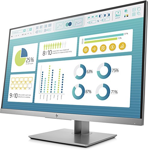 HP EliteDisplay E273 Flachbildschirm, 27 Zoll (68,6cm), Full HD, IPS, Schwarz, Silber, 1.920 x 1.080Pixel, LED, 5 ms, 250 cd/m² - 3