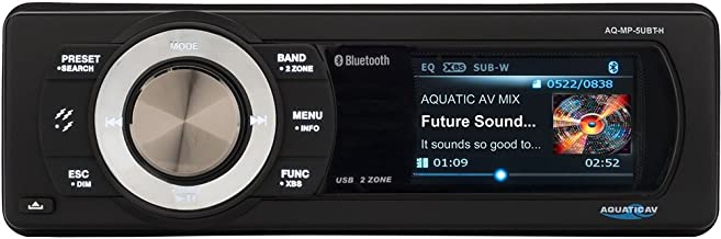 Aquatic AV AQ-MP-5UBT-H Factory Harley Davidson Replacement AM/FM Radio with 3