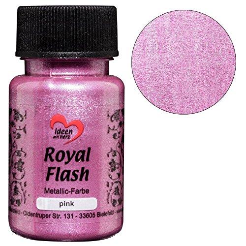 Royal Flash, Acryl-Farbe, metallic, mit feinsten Glitzerpartikeln, 50 ml (flieder/pink)