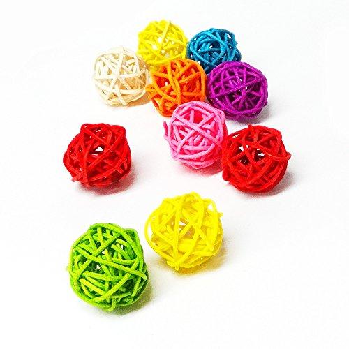 Loveril ミニマンチボール10個入り 3cmサイズ ペット用おもちゃ インコ オウム ハムスターなど 食用色素を使用