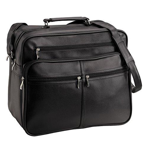 D&N Business Line schoudertas, 39 cm, 26 liter, zwart