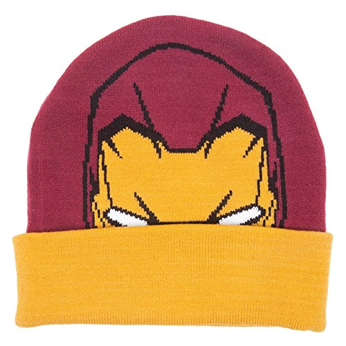 Marvel kc251005irn Iron Man Visage Bonnet (Taille Unique)