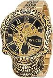 Invicta 35109 Gold/Black Artist Men Skull Men's Automatic Watch