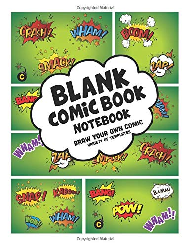 """My Simple Blank Comic Book Notebook: Draw Your Own Comics - Over 150 Pages Variety Of Templates - 8.5""""X11"""" Blank Comic Book Variety Of Templates Panel Layouts, Blank Comic Book With Blank Cover"""