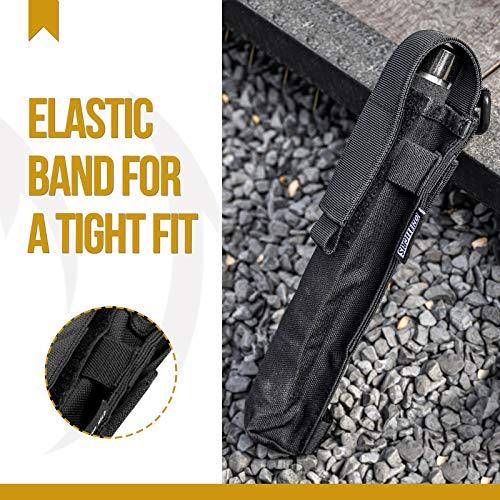 OneTigris X-Sheath Multiuse Tool Pouch Holster with Adjustable Capacity for Holding Flashlight, Folding Knife, Baton, Hammer (Black)