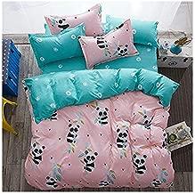 4pcs Children Beddingset Duvet Cover Set Duvet Cover Bedsheet Pillowcase Twin Full Queen HM Fox Design (Twin, China Panda)
