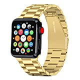 Libra Gemini Compatible for Apple Watch Band 44mm 42mm Replacement Stainless Steel Metal iWatch Band 44mm 42mm series 6/5/4/3/2/1