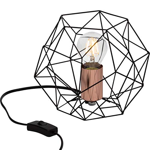 SYNERGY - Lampe à poser Métal Hexagonale Noir & Cuivre Ø22cm - Lampe à poser Brilliant designé par