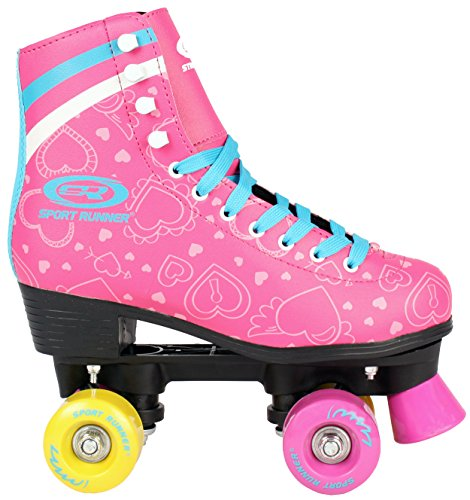 Sell-tex Kinder Rollschuhe 34 35 36 37 38 NEU Discoroller rosa Rollerskates Inliner ABEC-5 (35)