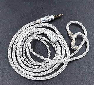 FAAEAL Cable de actualización de alta pureza OFC chapado en plata, KZ de 8 núcleos de cobre libre de oxígeno, 152 núcleos, cable dedicado 0,75 mm, 2 pines de repuesto para auriculares KZ ZSX/ZSN Pro