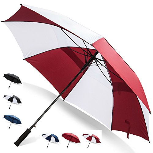 Why Choose 68 Inch Golf Umbrella (Red/White, 4-Pack) Bulk Umbrellas Multi Pack Umbrellas Golf Bag Um...