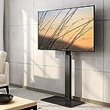 FITUEYES テレビスタンド 23~55インチ対応 壁寄せテレビスタンド 高さ調節可能 ラック回転可能 ブラック TT106001MB