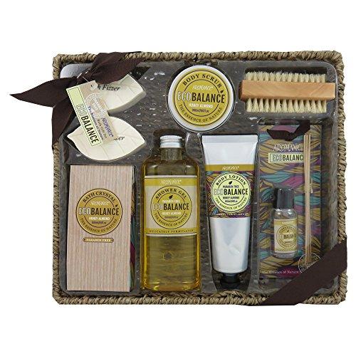 Gloss - caja de baño, caja de regalo para mujeres - Cesta de mimbre Baño EcoBalance - 7 habitaciones - almendra de miel