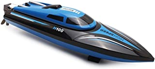 TOYEN Remote Control Boat for Lakes, Pools and Outdoor Adventure,H100 Remote Controlled RC Boats for Kids or Adults 4CH High Speed Electric RC Boat