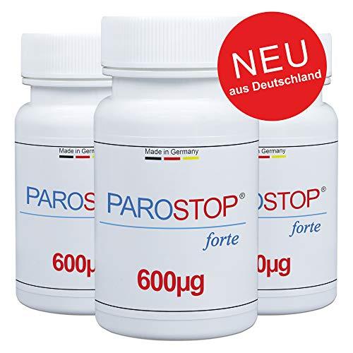 ParoStop forte - Die weltweit erste Parodontitis Kur - Made in Germany - Hochdosierter Dental 8 Komplex gegen Parodontitis und Zahnfleischentzündungen - Von Zahnärzten entwickelt KUR 90. PZN:16165855