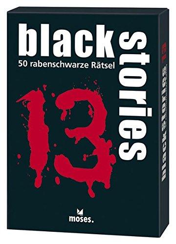 Preisvergleich Produktbild moses. black stories 13 / 50 rabenschwarze Rätsel / Das Krimi Kartenspiel