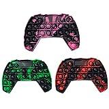 QDASZZ Pop Push Game Controller Gamepad Shape Pop Push tie dye Bubble Sensory Fidget Toy Autism Special Needs Stress Reliever for Kids & Adults (3 Colors)…