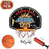 MUANSER Mini Wall Basketball Goal Backboard Rim Indoor Toys Set para Piscina, montado en la Pared con Red de Pelota y Bomba Portátil de Interior al Aire Libre para niños,D