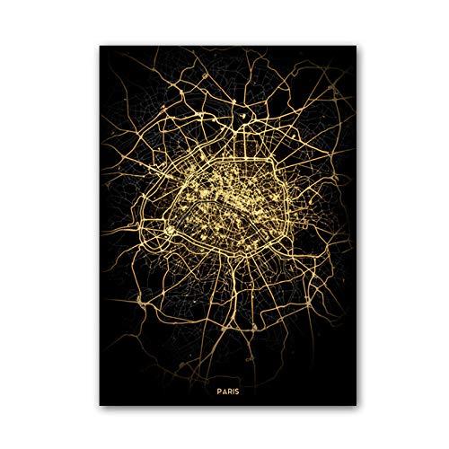 fsafa París Francia Mapa Rompecabezas Desafiante Juego Educativo Intelectual Descompresión Juguete,En Casa,Bloqueo,Regalo De Cumpleaños,Arte De La Pared,Bonito Conjunto De Regalos,1500 Piezas