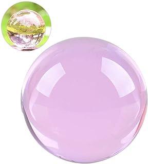 クリスタル クリア ボール 水晶球 水晶玉 多色透明 クリスタルボール レンズボール 装飾品(ピンク, 30mm