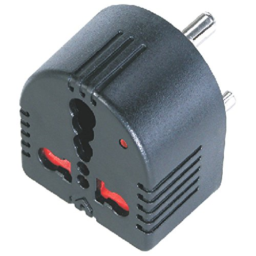 MX 1359 Enzo 3 pin Conversion Plug 5 Amperes to 15 Amperes Power Surge Protector (Black)