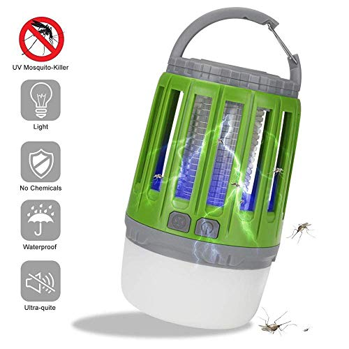 Dalovy Lightweight Tent,USB Rechargeable LED Mosquito Killer Lamp, 2 in 1 Radiationless Mute IP6X Waterproof Tent Light,with Hander, for Indoor Outdoors