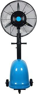 Ventilador de pie oscilante con nebulizador de agua/función ionizador de aire/Ventiladores de pedestal/Ventilador Industrial de pie /3 Velocidades/deposito Agua 49 litros/Negro