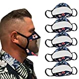 Cagogo 【USA 7 Days Fast Shipment 5PC Adult Clear_Face_Mask_Cloth, Men Face Màcks with Clear Window Visible Expression, Transparent Face Màcks Reusable Washable