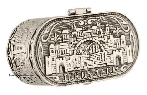 Jüdischer Shabbat Reisekerzenhalter – Jerusalem Kerzenhalter – Judaica Nickel