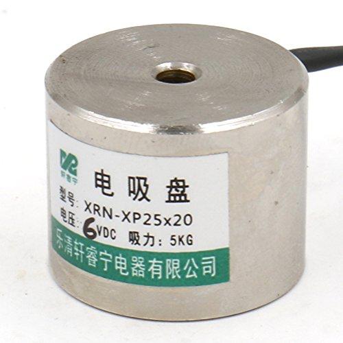 Heschen Elektromagnet-Magnet P25/20, Außendurchmesser: 25 mm, DC 6 V, 5 kg