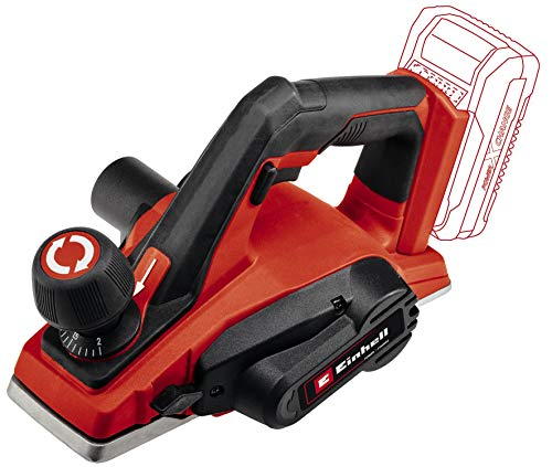 Einhell Cordless Planer TE-PL 18/82 Li - Solo Power X-Change (Li-Ion, 18, Chip Depth Up to 2 mm, Large Knife Shaft, Automatic Parking Rest, Aluminium Soleplate, Supplied without Battery or Charger)