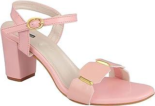 Shoetopia Womens/Girls Backstrap Solid Block Heels