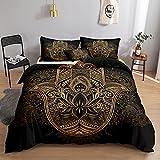 Gold Hamsa Hand Bedding Black Gold Duvet Cover Set...