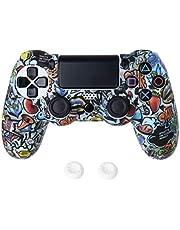 YUZI 1 zestaw gwiazda czaszka klejnot etui osłona silikonowa osłona ochronna z joystickiem kompatybilna z Sony PS4 Slim/Pro akcesoria do kontrolera gier