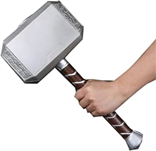 "damdos Halloween Cosplay Prop Weapon for 44cm Thor's Model Hammer Thor Models Hammer PU Foam 17"" Thunder Hammer Fancy Dres..."