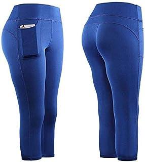 Yoga Pants, Women Running Gym Sports Pockets Active...
