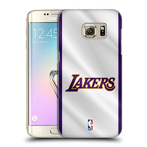 Head Case Designs Ufficiale NBA Maglia Los Angeles Lakers Cover Dura per Parte Posteriore Compatibile con Samsung Galaxy S7 Edge