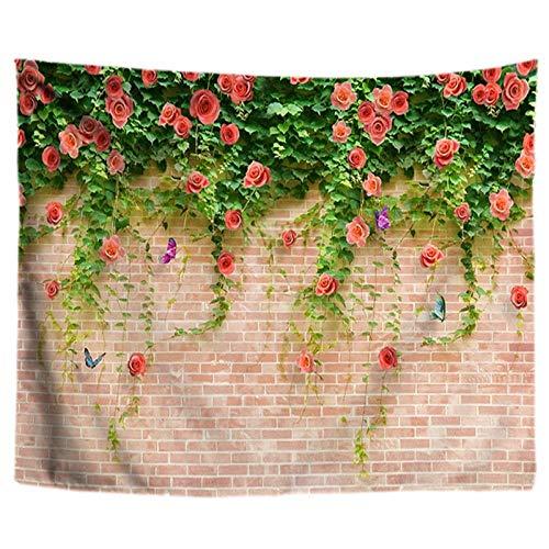 AdoDecor Planta Flor en la Pared de Piedra Tapiz Tapiz de Pared Tapiz de Pared Boho tapices de Pared Tela de Mandala 150x100CM