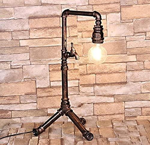 SDHouse Lámpara Escritorio Lámpara de Mesa de tubería de Agua Industrial pasada de Moda para Barra de Bar