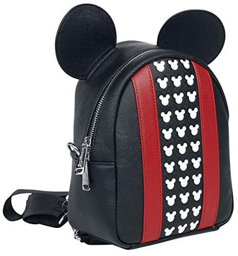 Loungefly X Disney Mickey Mouse Cabrio-Mini-Rucksack oder Umhängetasche, Rot (schwarz/red), Einheitsgröße