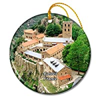 カスティーユフランスサンマルタンデュカニグー修道院クリスマスオーナメントセラミックシート旅行お土産ギフト