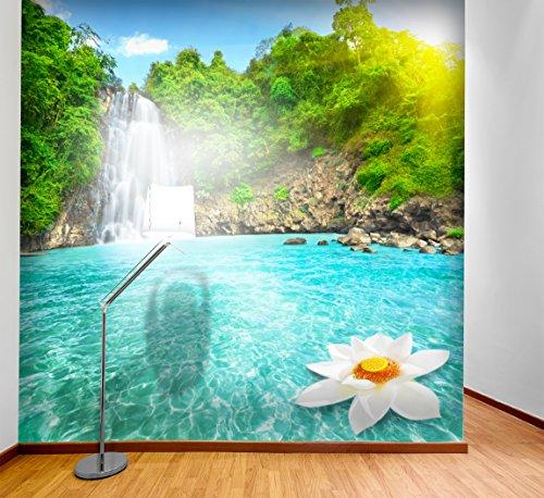 PVC Fototapete – ECO Wandbild Selbstklebende Tapete – 3D Vinyl Wandsticker - Wasserfall SW195(250X250CM)