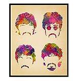 8x10 Beatles Poster, Wall Art - Wall Decor, Great Gift for Paul McCartney, John Lennon, Ringo Starr, George Harrison, 60s Music Fans
