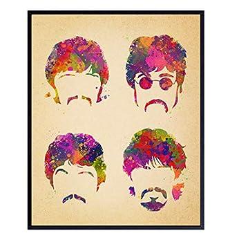 8x10 Beatles Poster Wall Art - Wall Decor Great Gift for Paul McCartney John Lennon Ringo Starr George Harrison 60s Music Fans